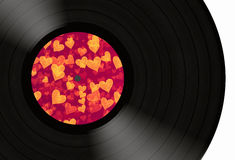 Love gramophone record Royalty Free Stock Image