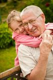 Love - grandparent with grandchild portrait Stock Image