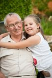 Love - grandparent with grandchild portrait Stock Images