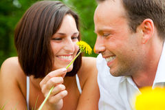 Love grass couple Royalty Free Stock Images
