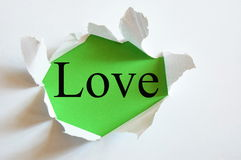 Love on green Stock Image