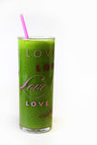 Love Green Juice Glass Vertical stock images