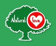 Love green tree Stock Image