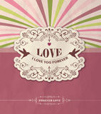 Love Greeting card Royalty Free Stock Photo