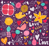 Love greeting card vector illustration
