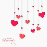Love greeting card for Happy Valentines Day celebration. Royalty Free Stock Images