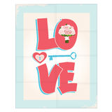 Love greeting card or poster design Royalty Free Stock Photos