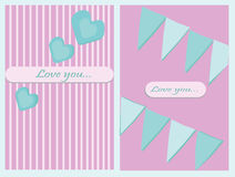 Love greeting card  Royalty Free Stock Image
