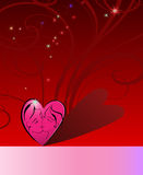 Love Greeting Card.Red background Stock Image