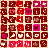 Love greeting card or seamless pattern Stock Photos
