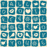 Love greeting card or seamless pattern Royalty Free Stock Photo