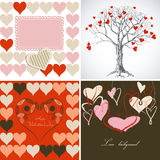 Love greeting card set Royalty Free Stock Photos
