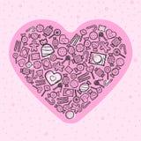 Love greeting card Royalty Free Stock Image