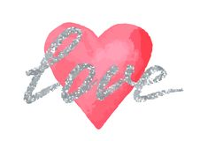 Love greeting card to Valentine day or wedding.  stock illustration