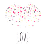 Love. Greeting cards with heart shape Stock Photography