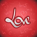 Love greetings hand lettering set (vector) Stock Photos