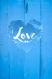 Love  Greetings. Love written on a heart Stock Images