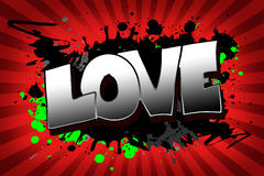 Love Grunge. The word love as a grungy colorfully painting Royalty Free Stock Image