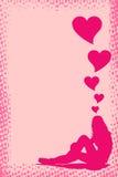 Love Grunge Frame, vector Royalty Free Stock Photo