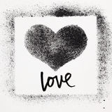 Love - Grunge heart Royalty Free Stock Photography