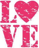 Love grunge rubber stamp, vector Stock Photo