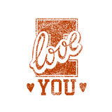 Love Grunge Stamp Royalty Free Stock Images