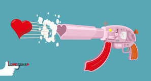 Love gun. Arms Cupids. Vector illustration Royalty Free Stock Photo