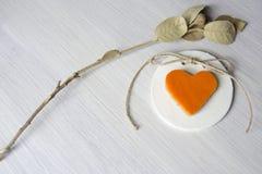 Love halloween, heart pumpkin Stock Photo