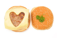 Love hamburgers Stock Image