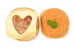 Love hamburgers Stock Image