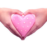 Love in hand Royalty Free Stock Images