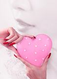 Love in hand Stock Photo