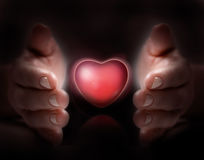 Love in hand Royalty Free Stock Photography