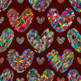 Love hand drawing colorful eco seamless pattern Royalty Free Stock Photos