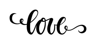 Love Hand drawn creative calligraphy and brush pen lettering isolated on white background. Stock Photography