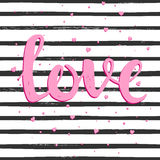 Love. Hand drawn typography poster. Stock Photo