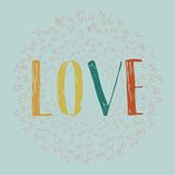 Love hand drawn vector illustration Stock Photo