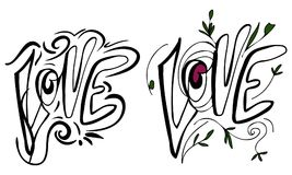 Love. Hand lettering and custom typography for your design. Doodle Royalty Free Stock Photography