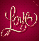 LOVE hand lettering (vector) Royalty Free Stock Images