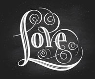 Love. Hand lettering. Handmade calligraphy Royalty Free Stock Images