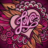 Love hand lettering - handmade calligraphy Royalty Free Stock Image