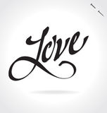LOVE hand lettering (vector) Stock Photos