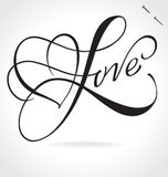 LOVE hand lettering (vector) Stock Image