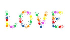 Love a hand print massage. Art Stock Photo
