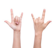 Love hand sign Royalty Free Stock Photo