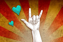 Love hand sign. I love you  hand sign Stock Images