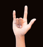Love hand sign. And with clipping path isolated  on white background Stock Images