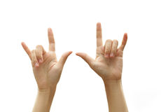 Love hand sign. Royalty Free Stock Photography