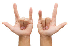 Love hand sign Royalty Free Stock Images