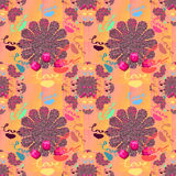 Love Hand Signed Seamless festive pattern design colorful flower Stock Image